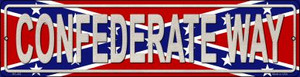 Confederate Way Wholesale Novelty Mini Metal Street Sign MK-402