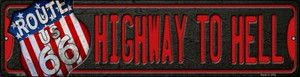 Highway To Hell Route 66 Wholesale Novelty Mini Metal Street Sign MK-588