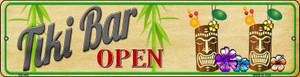 Tiki Bar Open Wholesale Novelty Mini Metal Street Sign MK-648
