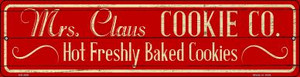 Mrs Claus Cookie Co Wholesale Novelty Mini Metal Street Sign MK-650