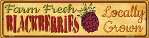 Farm Fresh Blackberries Wholesale Novelty Mini Metal Street Sign MK-674