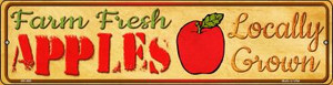 Farm Fresh Apples Wholesale Novelty Mini Metal Street Sign MK-680