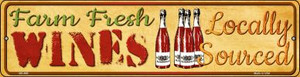 Farm Fresh Wines Wholesale Novelty Mini Metal Street Sign MK-686