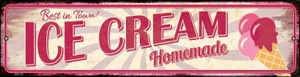Homeade Ice Cream Wholesale Novelty Mini Metal Street Sign MK-791