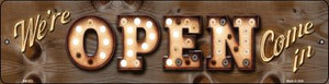 Were Open Come In Wholesale Novelty Mini Metal Street Sign MK-822