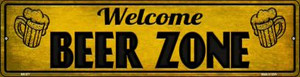 Welcome Beer Zone Wholesale Novelty Mini Metal Street Sign MK-877