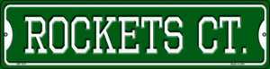 Rockets Ct Wholesale Novelty Mini Metal Street Sign MK-1015