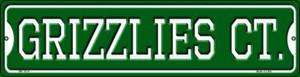 Grizzlies Ct Wholesale Novelty Mini Metal Street Sign MK-1019