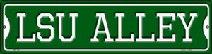LSU Alley Wholesale Novelty Mini Metal Street Sign MK-1078