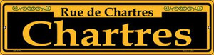 Chartres Yellow Wholesale Novelty Mini Metal Street Sign MK-1171