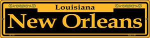 New Orleans Yellow Wholesale Novelty Mini Metal Street Sign MK-1230