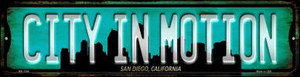 San Diego California City in Motion Wholesale Novelty Mini Metal Street Sign MK-1246