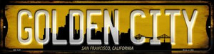 San Francisco California Golden City Wholesale Novelty Mini Metal Street Sign MK-1247