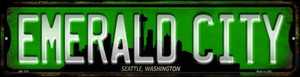 Seattle Washington Emerald City Wholesale Novelty Mini Metal Street Sign MK-1251