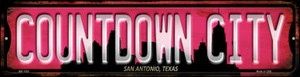 San Antonio Texas Countdown City Wholesale Novelty Mini Metal Street Sign MK-1252