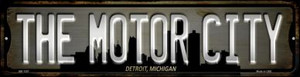 Detroit Michigan The Motor City Wholesale Novelty Mini Metal Street Sign MK-1257