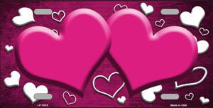 Pink White Love Print Hearts Oil Rubbed Wholesale Metal Novelty License Plate