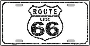 Route 66 Distressed Novelty Wholesale Metal License Plate