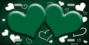 Green White Love Print Hearts Oil Rubbed Wholesale Metal Novelty License Plate