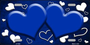Blue White Love Print Hearts Oil Rubbed Wholesale Metal Novelty License Plate