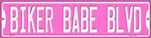Biker Babe Wholesale Novelty Mini Metal Street Sign MK-1377