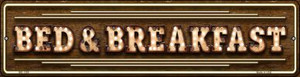 Bed and Breakfast Bulb Lettering Wholesale Novelty Mini Metal Street Sign MK-1389