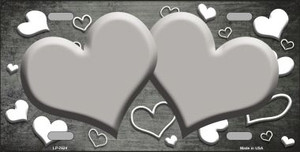 Purple White Love Print Hearts Oil Rubbed Wholesale Metal Novelty License Plate