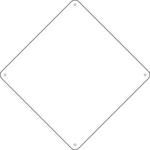 "BULK-MCX-000 White Dye Sublimation 8"" Wholesale Novelty Metal Small Crossing Sign 100pc Pack BULK-MCX-000"