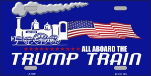 Trump Train Wholesale Novelty Metal License Plate Tag LP-13591