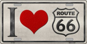 I Love Route 66 Novelty Wholesale Metal License Plate