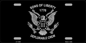 Sons of Liberty 1776 Wholesale Novelty Metal License Plate Tag LP-13580