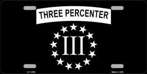 3 Percenter Ring of Stars Wholesale Novelty Metal License Plate Tag LP-13582