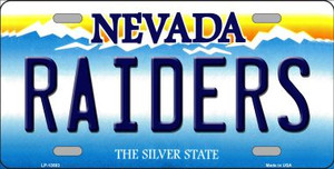 Raiders Nevada Wholesale Novelty Metal License Plate Tag LP-13583