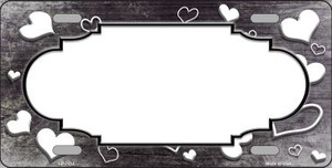 Black White Love Print Scallop Oil Rubbed Wholesale Metal Novelty License Plate
