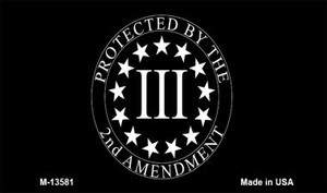 Protected by 2nd Amendment Wholesale Novelty Metal Magnet M-13581