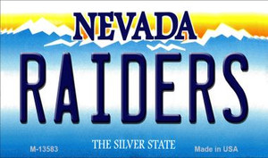 Raiders Nevada Wholesale Novelty Metal Magnet M-13583
