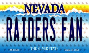 Raiders Fan Nevada Wholesale Novelty Metal Magnet M-13584