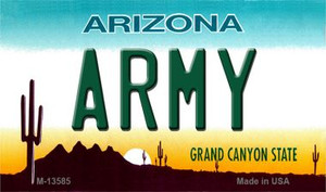 Army Arizona Wholesale Novelty Metal Magnet M-13585