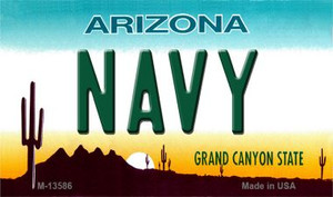 Navy Arizona Wholesale Novelty Metal Magnet M-13586
