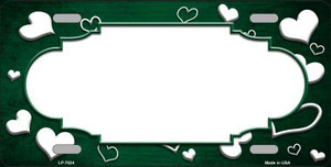 Green White Love Print Scallop Oil Rubbed Wholesale Metal Novelty License Plate