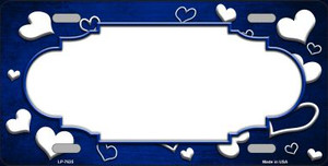 Blue White Love Print Scallop Oil Rubbed Wholesale Metal Novelty License Plate