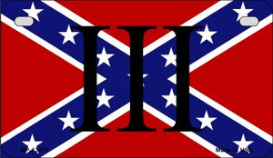 3 Percenter Confederate Wholesale Novelty Metal Motorcycle Plate MP-13576