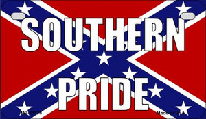 Southern Pride Confederate Wholesale Novelty Metal Motorcycle Plate MP-13578