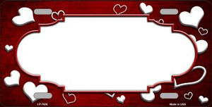 Red White Love Print Scallop Oil Rubbed Wholesale Metal Novelty License Plate