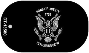 Sons of Liberty 1776 Wholesale Novelty Metal Dog Tag Necklace DT-13580