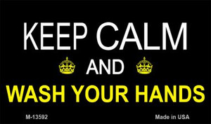 Keep Calm Wash Your Hands Wholesale Novelty Metal Magnet M-13592
