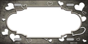 Tan White Love Print Scallop Oil Rubbed Wholesale Metal Novelty License Plate