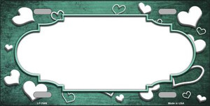 Mint White Love Print Scallop Oil Rubbed Wholesale Metal Novelty License Plate