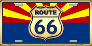 Route 66 Arizona State Flag Novelty Wholesale Metal License Plate