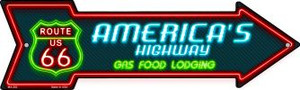 Route 66 Lodging Wholesale Novelty Mini Metal Arrow MA-283